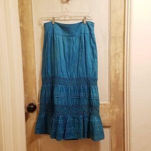 J.Jill Linen tiered maxi skirt
